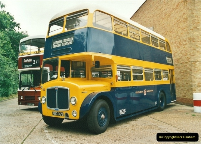 2002-06-30. 100 Years of Yellow Buses Open Day, Mallard Road Depot. Bournemouth, Dorset.    (57)072