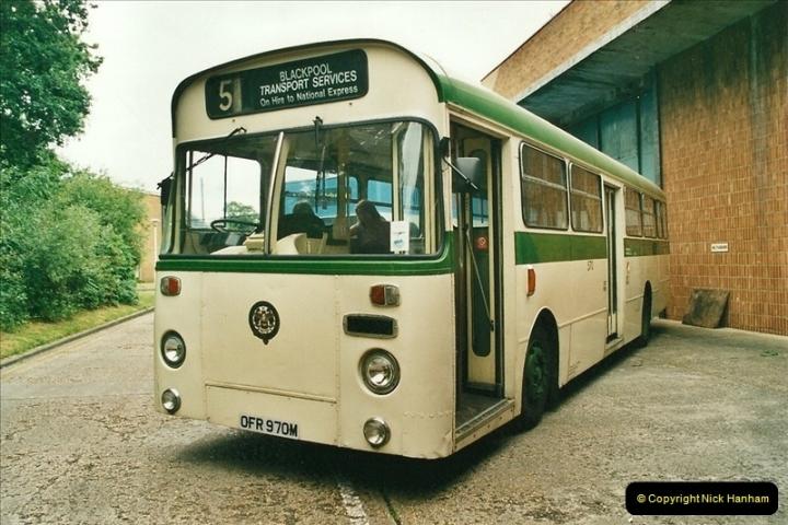 2002-06-30. 100 Years of Yellow Buses Open Day, Mallard Road Depot. Bournemouth, Dorset.    (60)075