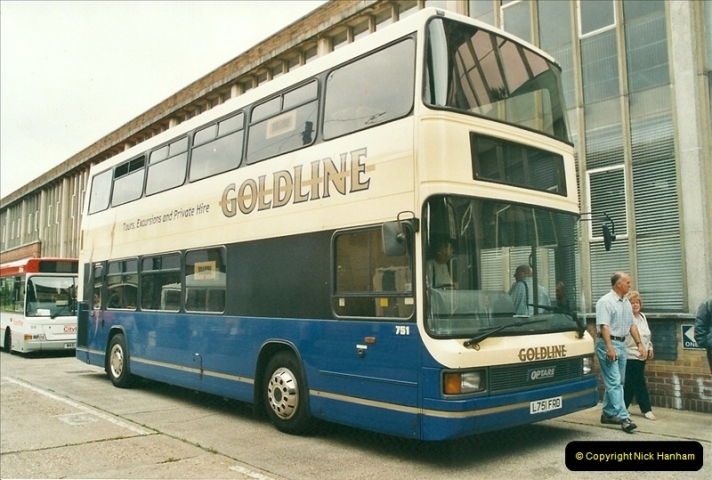 2002-06-30. 100 Years of Yellow Buses Open Day, Mallard Road Depot. Bournemouth, Dorset.    (68)083
