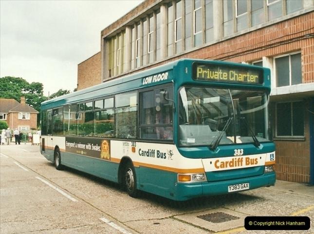 2002-06-30. 100 Years of Yellow Buses Open Day, Mallard Road Depot. Bournemouth, Dorset.    (71)086