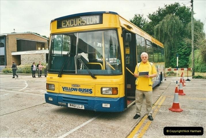 2002-06-30. 100 Years of Yellow Buses Open Day, Mallard Road Depot. Bournemouth, Dorset.    (73)088