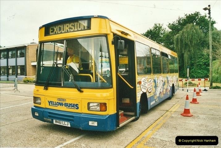 2002-06-30. 100 Years of Yellow Buses Open Day, Mallard Road Depot. Bournemouth, Dorset.    (75)090