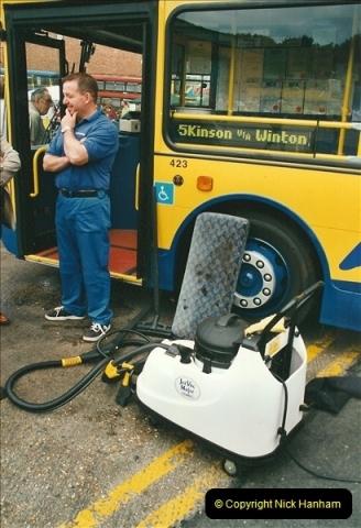 2002-06-30. 100 Years of Yellow Buses Open Day, Mallard Road Depot. Bournemouth, Dorset.    (76)091
