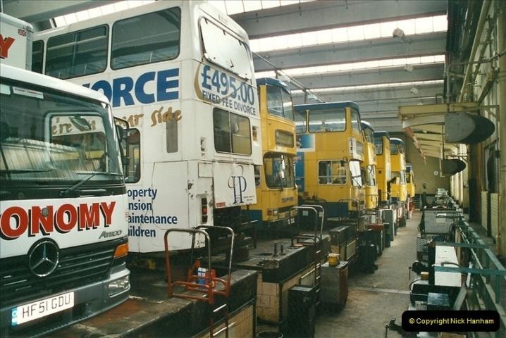 2002-06-30. 100 Years of Yellow Buses Open Day, Mallard Road Depot. Bournemouth, Dorset.    (77)092