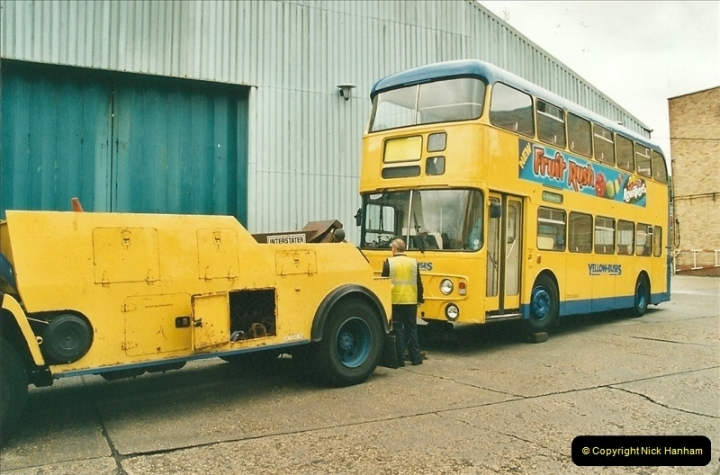 2002-06-30. 100 Years of Yellow Buses Open Day, Mallard Road Depot. Bournemouth, Dorset.    (89)104