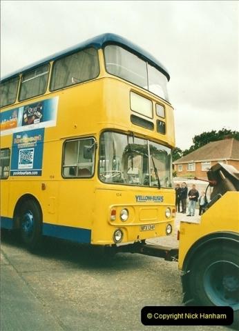 2002-06-30. 100 Years of Yellow Buses Open Day, Mallard Road Depot. Bournemouth, Dorset.    (94)109