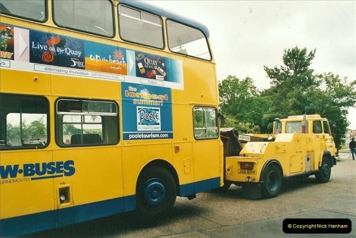 2002-06-30. 100 Years of Yellow Buses Open Day, Mallard Road Depot. Bournemouth, Dorset.    (95)110
