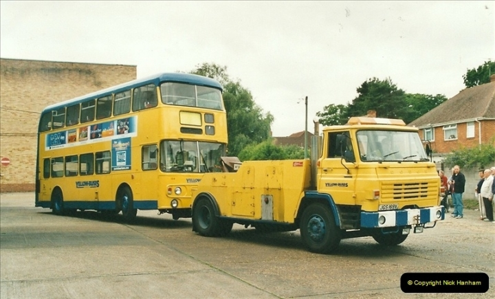 2002-06-30. 100 Years of Yellow Buses Open Day, Mallard Road Depot. Bournemouth, Dorset.    (96)111