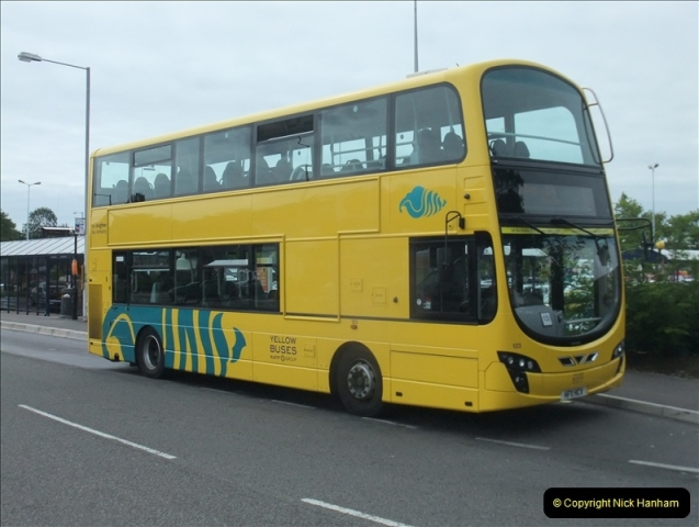 2011-08-30 Somerford, Christchurch, Dorset. New RATP Yellow Buses Livery.  (2)189