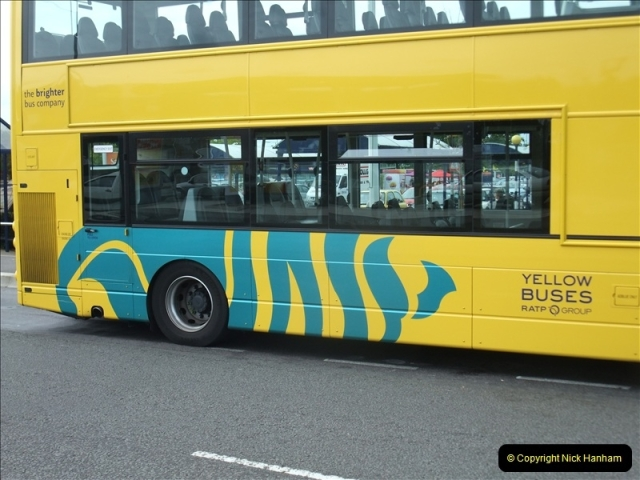 2011-08-30 Somerford, Christchurch, Dorset. New RATP Yellow Buses Livery.  (3)190
