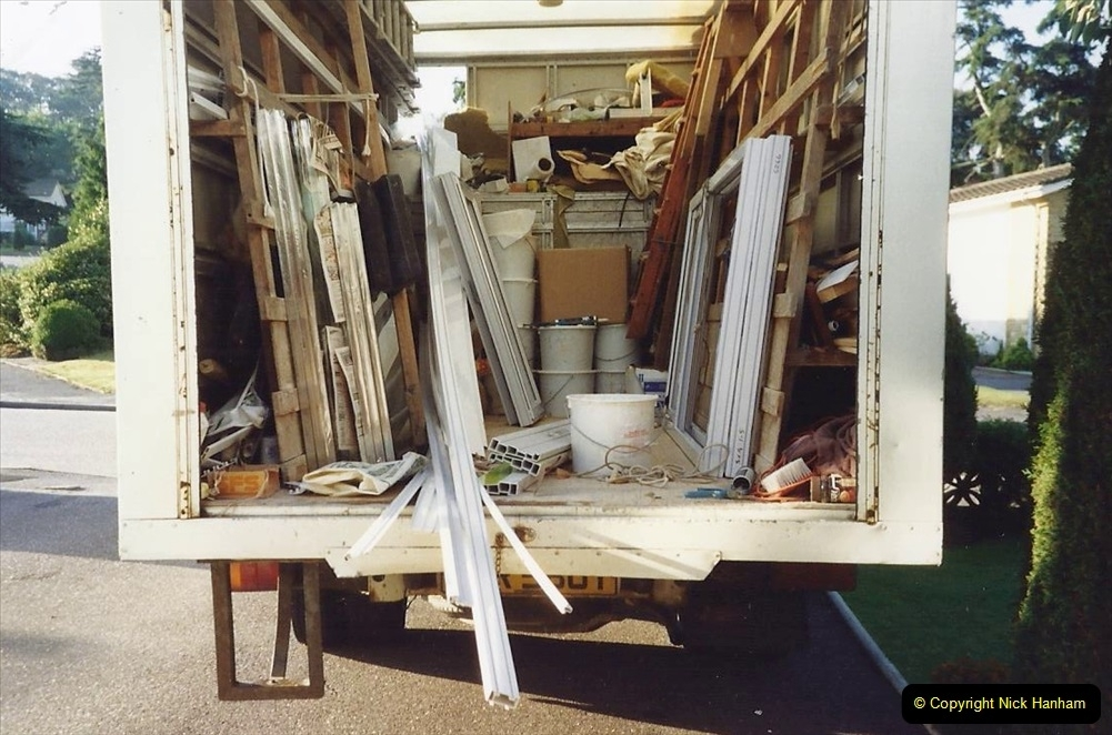 1991 Miscellaneous. (109) Replacement windows double glazed being fitted to your Host & Wife's Home. 0110