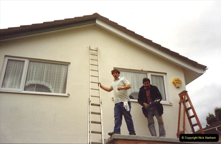 1991 Miscellaneous. (111) Replacement windows double glazed being fitted to your Host & Wife's Home. 0112