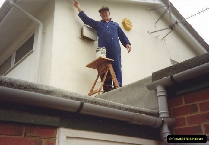 1991 Miscellaneous. (113) Sprucing the house up after the new winds have been fitted. 0114