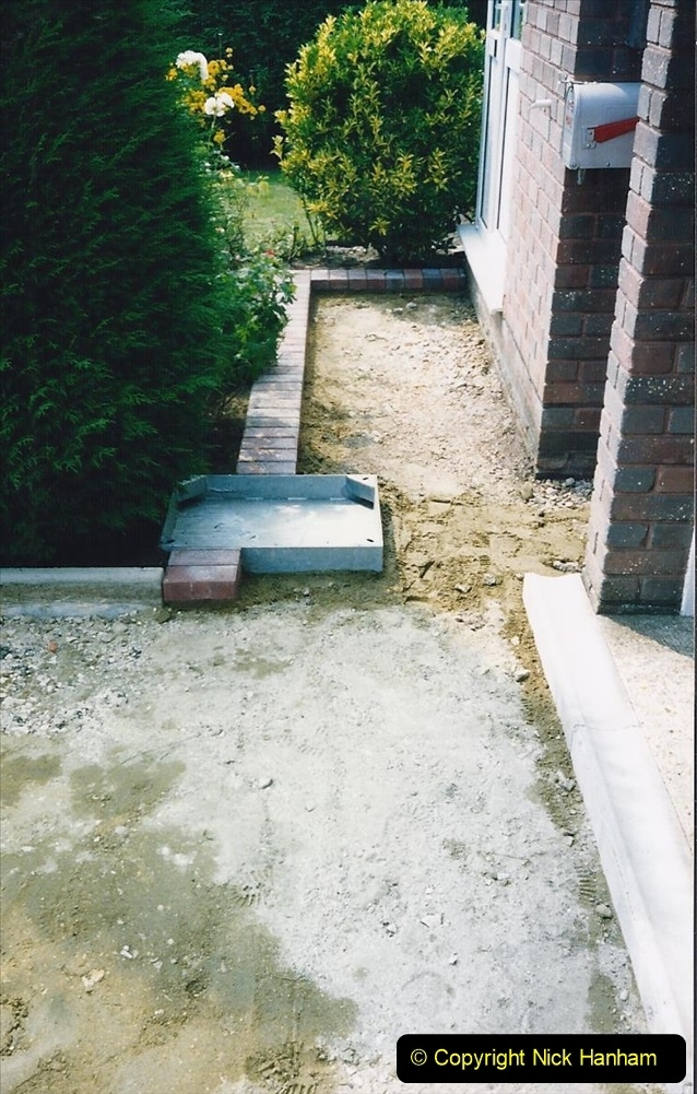 1993 Miscellaneous. (387) New driveway for your Host & Wife. 0391
