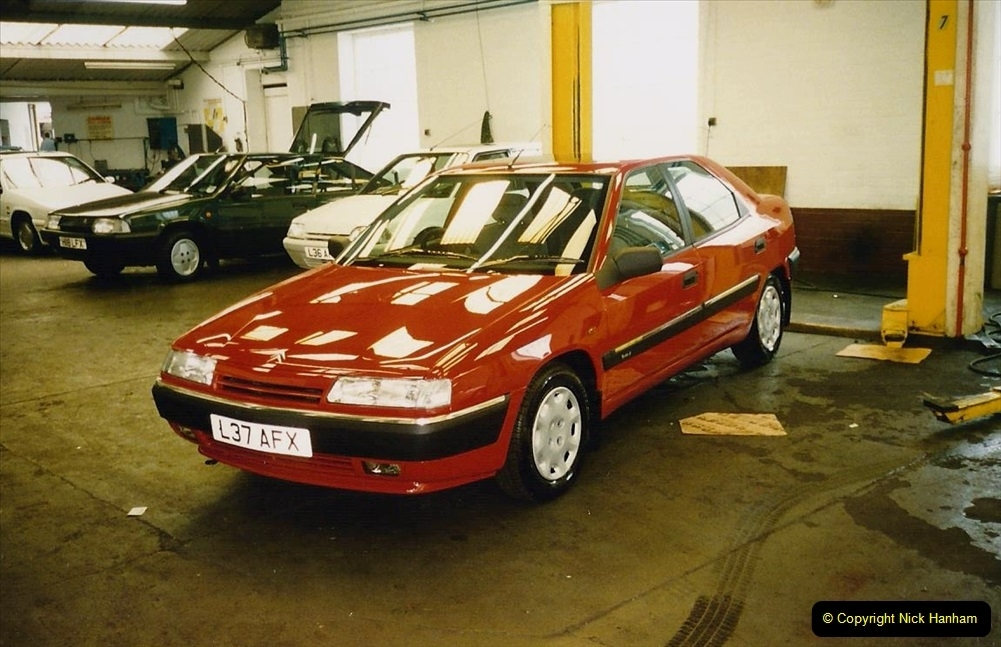 1993 Miscellaneous. (400) Our new cars at the garage on 30 July. 0404