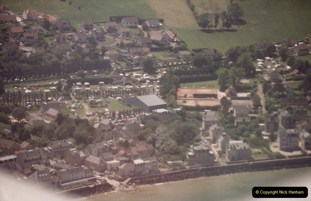 1994 Miscellaneous. (577) D Day Landings flight from Bournemouth Hurn Airport to the French Coast. The beaches. 0481