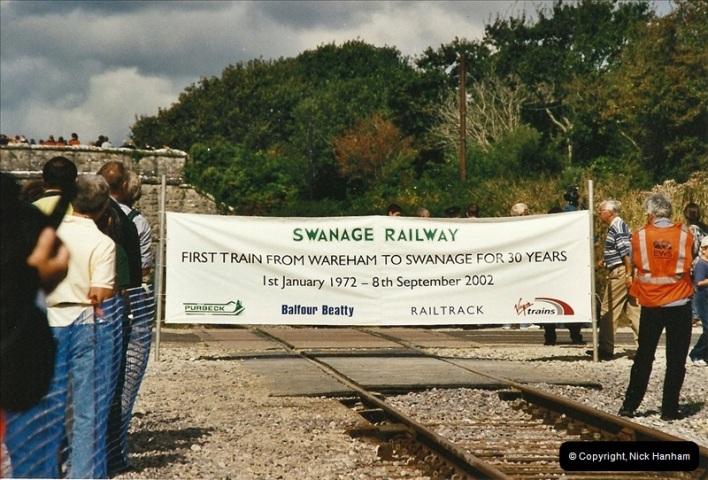2002-09-08 Virgin Voyager named @ Swanage.  (3)090