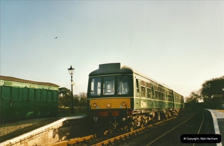 2002-12-01 Driving the DMU on Santa Specials.  (1)195