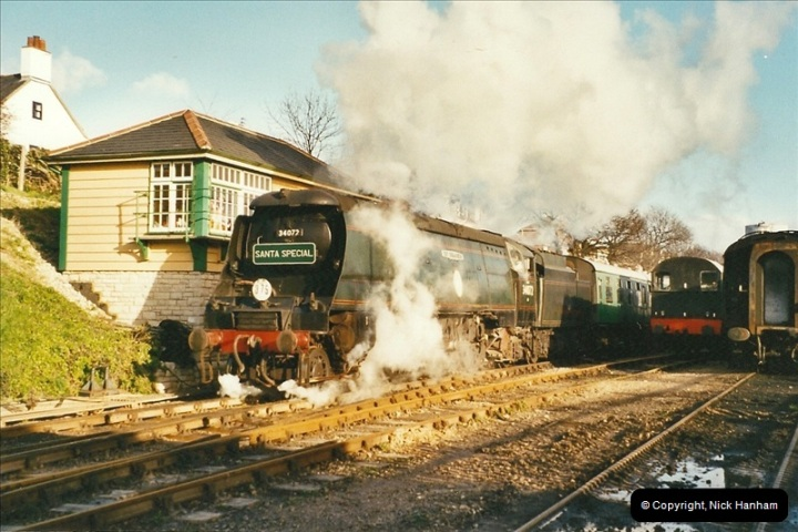 2002-12-01 Driving the DMU on Santa Specials.  (18)212