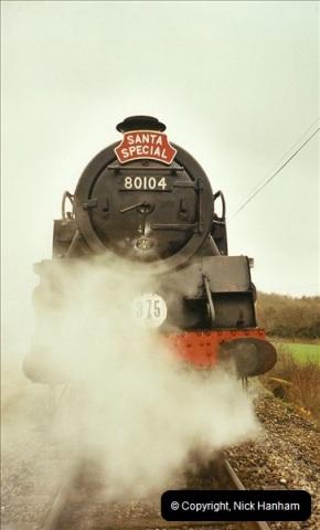 2002-12-07 Driving 80104 on Santa Specials.  (2)226