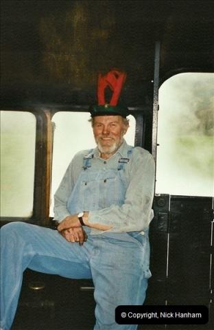 2002-12-07 Driving 80104 on Santa Specials.  (6)230