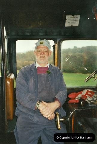 2002-12-07 Driving 80104 on Santa Specials.  (8)232