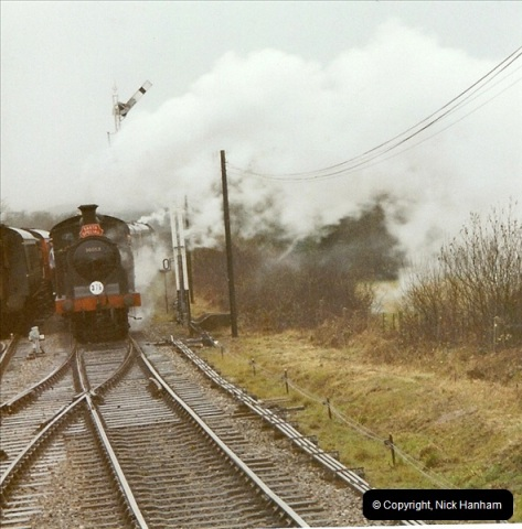 2003-12-13 Santa Specials driving the Dining train with 80104. (4)444