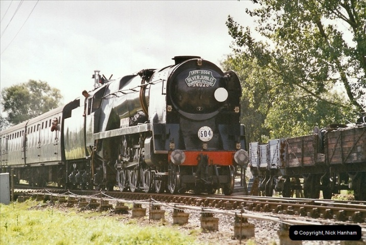 2004-09-11 SR Steam Gala with your Host driving 80104.  (28)609