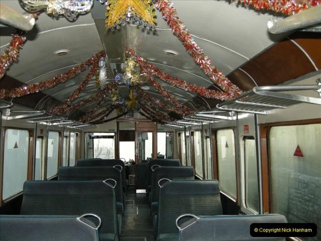 2008-12-07 Santa Specials, Driving the DMU.  (3)0592