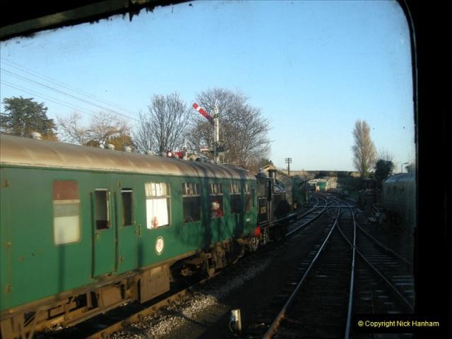 2008-12-07 Santa Specials, Driving the DMU.  (42)0631