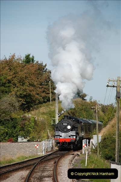 2009-09-11 SR Steam Gala. Your Host driving 6695.  (24)24