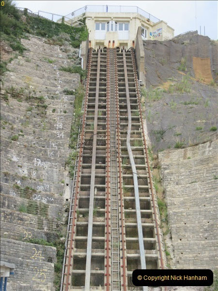 2018-09-08 Bournemouth East Cliff Railway progress after cliff fall.  (2)253