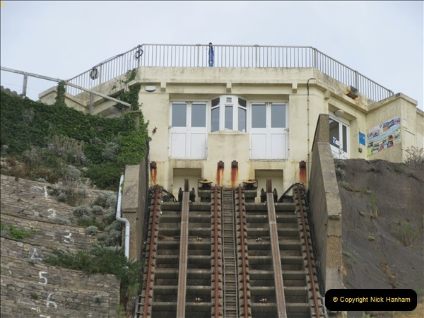 2018-09-08 Bournemouth East Cliff Railway progress after cliff fall.  (4)255