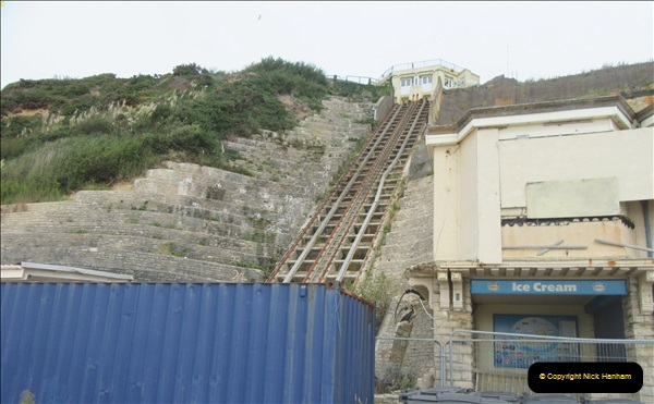 2018-09-08 Bournemouth East Cliff Railway progress after cliff fall.  (9)260