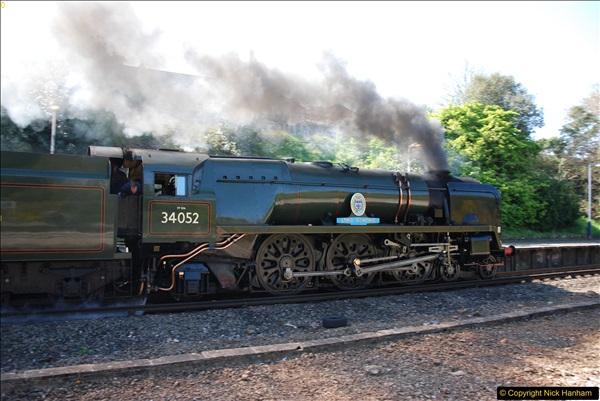 2017-04-08 34046 Braunton as 34052 Lord Dowding at Pokesdown, Bournemouth, Dorset. (11)119