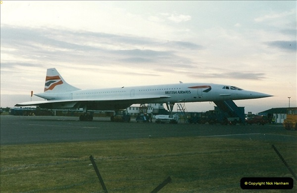 1998-08-13 Concorde @ Bournemouth Airport, Dorset. Your Host on board. (2)181