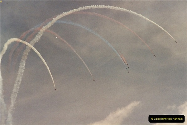 2003-08-15. The Red Arrows over Poole, Dorset.  (2)249