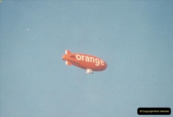1994 October. The Orange Blimp over Poole, Dorset.159