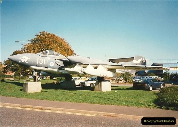 1995-10-08 DH Sea Vixen as Gate Gard Christchurch, Dorset.  (1)169