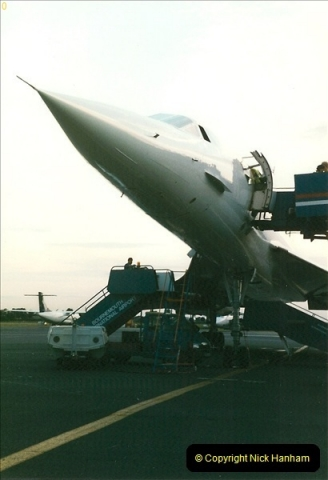 1998-08-13 Concorde @ Bournemouth Airport, Dorset. Your Host on board. (11)191