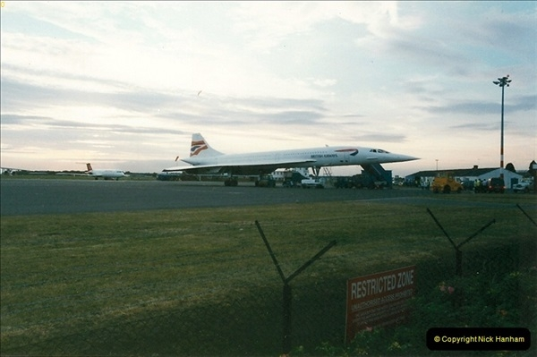 1998-08-13 Concorde @ Bournemouth Airport, Dorset. Your Host on board. (1)180