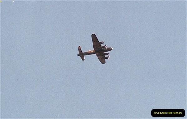 2004-09-08 Battle of Britain Memorial Flight Lancaster over Winchester, Hampshire.356