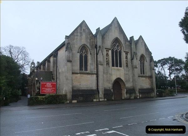 2012-12-21 (1) St.  Aldhelm's Church  Xmas Trees Display,  Branksome, Poole, Dorset.