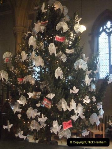 2012-12-21 (11) St.  Aldhelm's Church  Xmas Trees Display,  Branksome, Poole, Dorset.