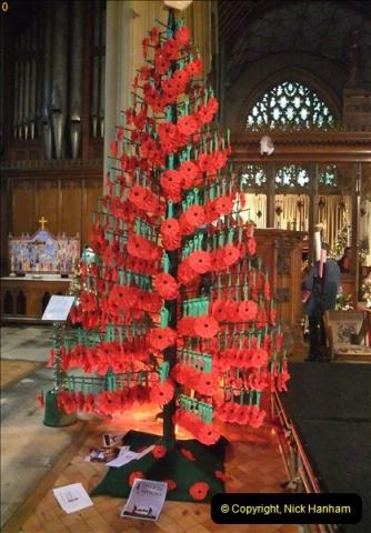 2012-12-21 (12) St.  Aldhelm's Church  Xmas Trees Display,  Branksome, Poole, Dorset.
