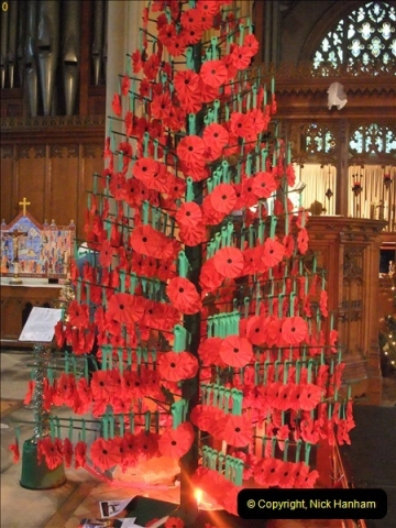 2012-12-21 (13) St.  Aldhelm's Church  Xmas Trees Display,  Branksome, Poole, Dorset.