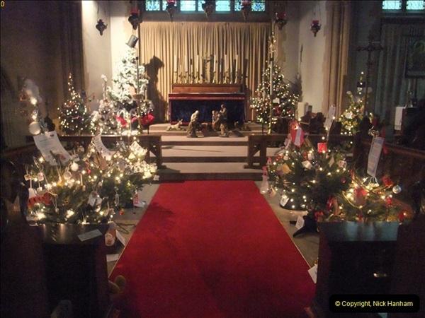 2012-12-21 (17) St.  Aldhelm's Church  Xmas Trees Display,  Branksome, Poole, Dorset.
