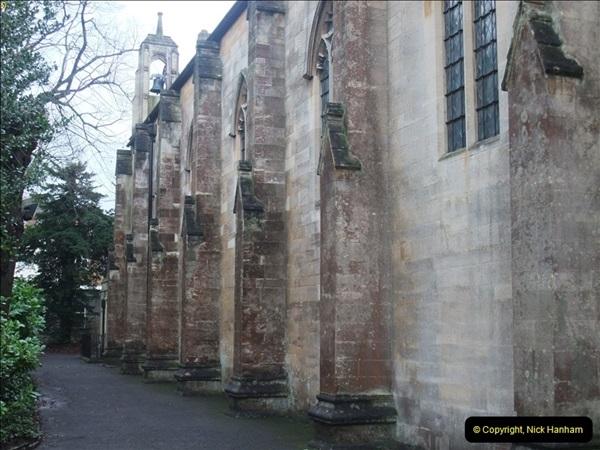 2012-12-21 (2) St.  Aldhelm's Church  Xmas Trees Display,  Branksome, Poole, Dorset.