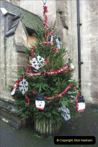 2012-12-21 (3) St.  Aldhelm's Church  Xmas Trees Display,  Branksome, Poole, Dorset.