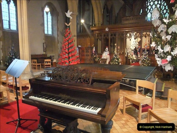 2012-12-21 (30) St.  Aldhelm's Church  Xmas Trees Display,  Branksome, Poole, Dorset.